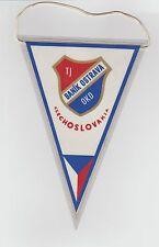 Banik Ostrava Checoslovaquia Raro Original Medio década de 1970 banderín Buenas Condiciones