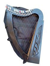 15 Strings Irish Harp, Sheesham Wood +Free  Carry Bag & Tunning key