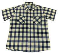 Carhartt Mens Large Short Sleeve Plaid Button Down Shirt