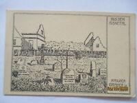 Frankreich Aisne Feldskizze  sign.Kauertz, Kriegsgräber Nouvron (10516)