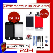 VITRE TACTILE IPHONE 4/4s NOIR OU BLANC + ECRAN LCD RETINA ORIGINAL SUR CHASSIS