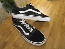 Vans Old Skool Black & White  Canvas Trainers/Pumps, UK 10 - EU 44.5