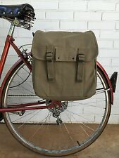 Musette Messenger Bag Bicycle Pannier Military Surplus Style OD Green