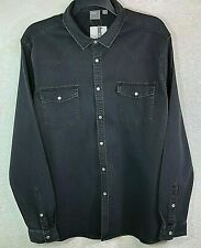 Asos Faded Men's Black Western Shirt New w/Tags Size 3XL Snaps