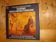 Monteverdi Vespro della Beata Vergine ESCOLANIA DE MONTSERRAT HM 2LP BOX MINT