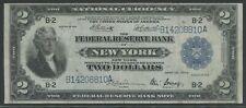 "FR752 $2 1918 FRBN NEW YORK ""BATTLESHIP"" NOTE CHOICE VF+ HW5650"