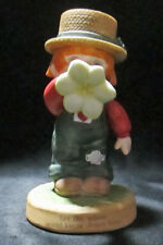 Enesco Wee Country Folk Boy Flower Horn Let The Whole World Know Jesus Lives