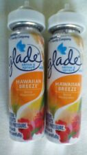 2 New Glade Sense & Spray Automatic Freshener Hawaiian Breeze .43 oz Refills