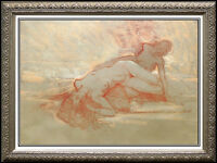 RICHARD MACDONALD Original Pastel Painting Signed Art Bronze Sculpture STUDY oil