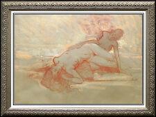 RICHARD MACDONALD Original Pastel Painting Signed Art Bronze Sculpture STUDY oil