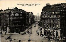 CPA PARIS 2e-Carrefour Rue de la Paix et Avenue de l'Opéra (322008)