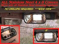 WIDE ANGLE MIRROR SKIDSTEER Equipment Loader Skid Steer Fits cat bobcat gehl etc