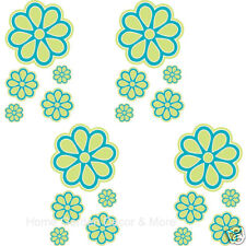 FLIRT Blue Green Daisy Flower Floral Wall Appliques Decals Stickers Border