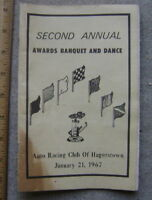 1967 Auto Racing Club of Hagerstown Awards Banquet prog