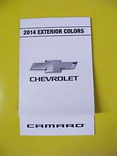 2014 CHEVROLET CAMARO DEALERSHIP EXTERIOR COLOR CHART
