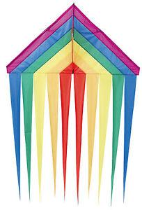 HQ Drachen Einleiner Delta Rainbow Flugdrachen