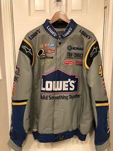 NASCAR Jimmie Johnson #48 Lowes Heavy Leather Jacket 2XL - Nice!
