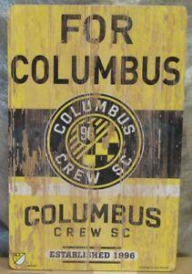 """COLUMBUS CREW SC FOR COLUMBUS EST. 1996 WOOD SIGN 11""""X17'' NEW WINCRAFT"""