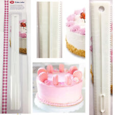 Cake Ruler Decorate Cakes Leveler Scale Straight Wavy Pattern Cream Baking Tool