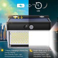 1X(262LED Solaire Capteur de Mouvement de LumièRe Solaire Lampe D'Inondation Q4V