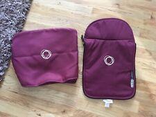 Bugaboo cameleon Plum Purple Hood and Apron Tailored Fabric Set