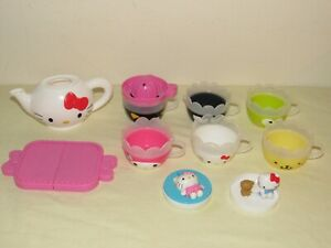 McDonalds Sanrio HELLO KITTY TEA SET Tea Pot, Tray, Cups, Sugar, Juicer Lot