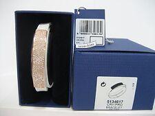 Swarovski Vio White Leather Bracelet, Leather/Crystal Authentic MIB 5134617
