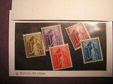Luxembourg Stamp Scott# B50-54 Countess Ermesinde 1932 MH C64