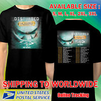 Disturbed The Sickness Tour Dates 2020 Black Shirt Size S-3XL Botol Free