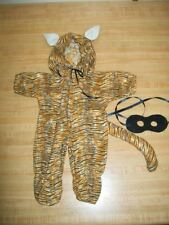 """TIGER CAT HALLOWEEN COSTUME W/ TAIL EARS +MASK for 16-17"""" CPK Cabbage Patch Kids"""