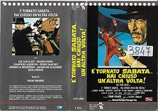 E' TORNATO SABATA... HAI CHIUSO UN'ALTRA VOLTA! (1971) vhs ex noleggio