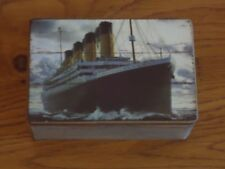 Titanic Ship Wooden Box Treasure Chest- Rustic / Sea Bird / Nautical / Nice Gift