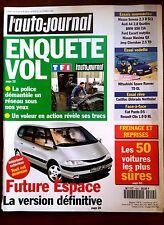 Auto journal du 02/1995; Enquête vol/ Futur Espace/ Les 50 voitures les plus sur