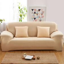 Stretch Slipcover Chair Sofa Couch Protect Elastic Cover Beige