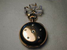 Co. Diamond Enamel PocketWatch Pocket Watch Stunning Antique 18K Gold Tiffany &