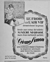PUBLICITÉ DE PRESSE 1926 CRÉME SIMON ONCTUEUSE NI SÈCHE NI GRASSE