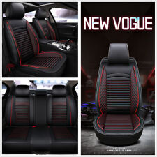 Luxury PU Leather Car Seat Covers Universal Full Front+Rear Seat Protect Cushion