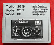 Rollei 35 35S, 35T Anleitung Instructions manual -  6 languages Sprachen