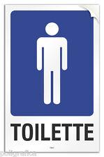 "Cartello PVC adesivo ""Toilette uomo"""