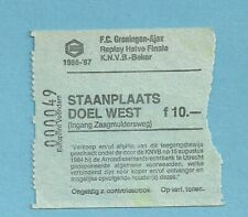 TICKET    FC GRONINGEN - AJAX AMSTERDAM Replay 1/2 Fin Knvb Beker 1986/87