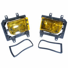 Front Bumper Yellow Fog Lights Plastic Lens For BMW E30 3 Series 318i 1985-1993
