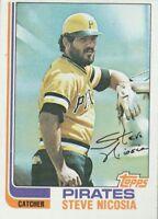 FREE SHIPPING-MINT-1982 (PIRATES) Topps #652 Steve Nicosia (FACSIMILE AUTOGRAPH)