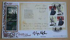 Jane eyre booklet pane 2005 benham fdc Carnforth hs signé par auteur glyn hughes