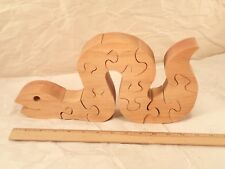 Jigsaw Band Saw SNAKE or INCH WORM Child's Wooden Puzzle, Shelf Display, Toy