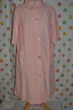 Vintage 1950 - 60's Women`s 12 Nylon Blend big buttons soft Robe housecoat Euc