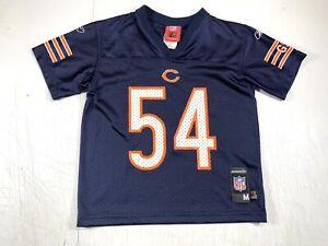 Brian Urlacher KIDS Medium (5-6) Chicago Bears NFL Players Reebok Jersey - #54