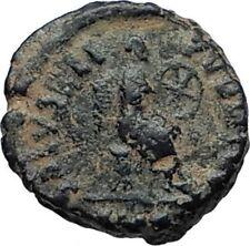 Aelia flacilla Teodosio I esposa 383AD antigua moneda romana victoria Chi-rho i67389