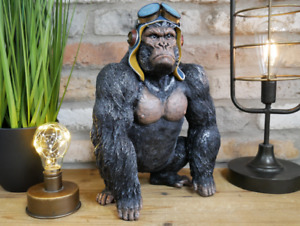 Moody Gorilla 34cm Tall Resin Figure Superb Quality New And Boxed