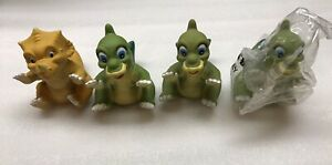 Vintage 1988 PIZZA HUT Land Before Time Puppets. 3 x Ducky (1 In Pkg), 1 x Cera
