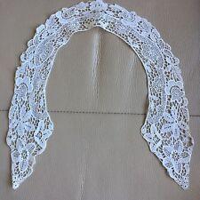 More details for edwardian antique lace collar schiffli white bridal project floral vintage retro